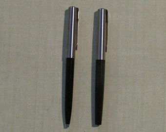 Vintage parker ball point and fountain pen set  Mixy 15 made in UK 1980 black and chrome