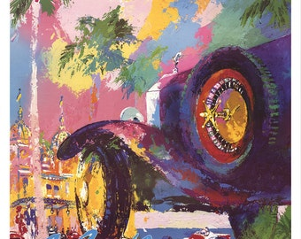 Leroy Neiman-Monte Carlo Chase-1988 Poster
