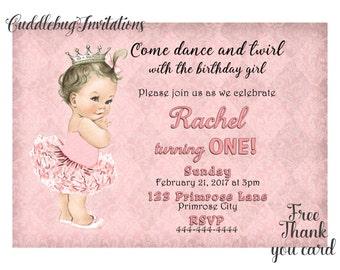 Pink Girl Birthday Invitation | Pink Ballerina Birthday Invitation | Pink Ballet Birthday Girl Invite | Girl Birthday Invitation Printable