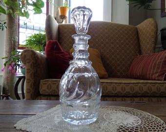 Antique Decanter, Cut Glass, Flint Glass, Barware