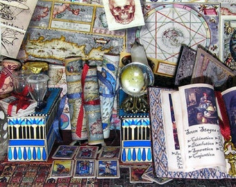 The Alchemist, paper minis, DIY kit from paper in miniature for the Doll House, Doll House, dollhouse miniatures