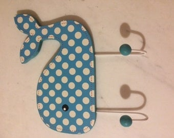 Whale hooks wall hanging