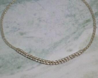 Ladies non tarnish silver viking knit necklace