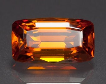 24.20ct- 18 X 10mm Fiery Burnt Orange Zincite Faceted Rectangle Cushion Loose Gemstone.*