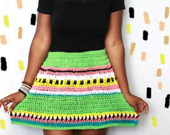 S/S 17. The Dulcet Crochet Skirt Pattern. Intant Download!