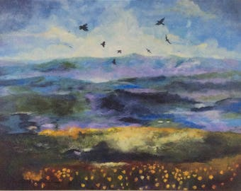 View From The Ridge, Raven's Dance Print