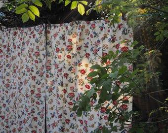 40/50s Vintage Floral Curtains