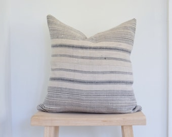 Striped Hmong pillow covers