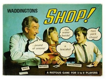 Shop! Vintage 1970s Retro Card Game from Waddingtons