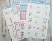 Koala mini sticker kit for the Erin Condren life planner