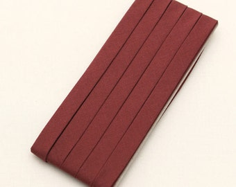 Cotton Candy Series Folded Cotton Bias in Rouge Brown - 3 Yards 92890