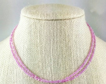 Multi Strand Pink Seed Beaded Necklace