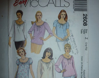Easy McCall's Fashion Basics Pattern 2608 Sizes Available: Large 16-18 to X-Large 20-22