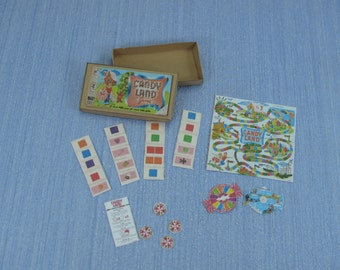 NEW Gaël Miniature Vintage  The game Candy Land Dollhouse Miniature child game Accessory handmade toy