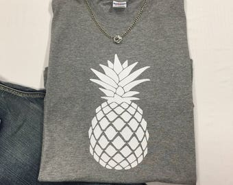 Pineapple Welcome Graphic Tee T-shirt Short Sleeve
