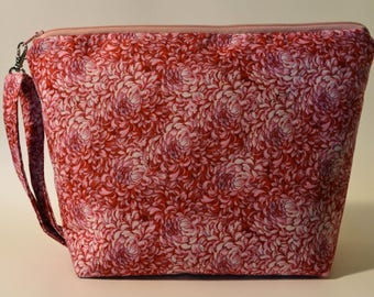 Pink Flowers project bag