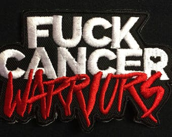 FUCK CANCER WARRIORS embroidered patches