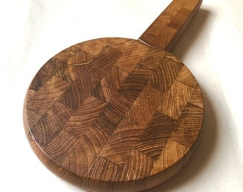 dansk round cheeseboard with knife