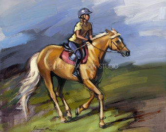 Girl and Pony Giclée Fine Art Print - Horse Art - Horse Print - Fine Art Print