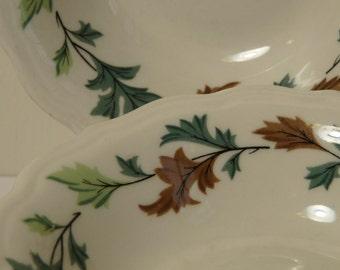Syracuse China, Oak Leaf, small bowls, vintage restaurant ware, diner, set of 4