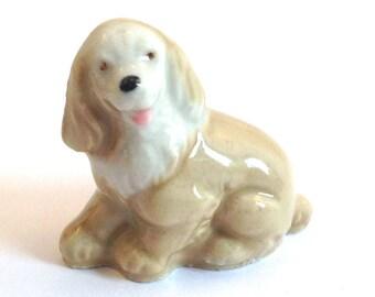 Wade Whimsie: Whimsie-Land Puppy Figurine 1984 - Whimsie Land Puppy - Wade Whimsies - Wade Figurines - Wade Dog - Wade Puppy - Whimsie Puppy