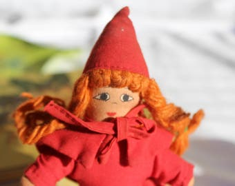 Little Red Riding Hood, The Wolf, and Grandma - Vintage 3-in-1 Topsy Turvy Doll