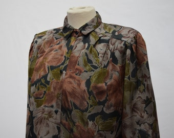 Womens Autumnal floral Shirt (DOWN FROM 24.99)
