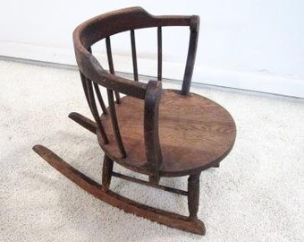 1800s Rocking Chair Etsy