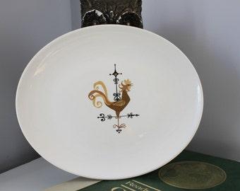Mid Century Weather Vane F5240, American Dinnerware platter by Edwin Knowles China,Weathervane Large Platter,Rooster platter,Chicken Platter