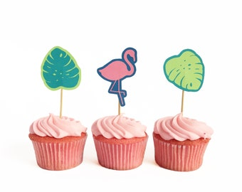 Printable Tropical Cupcake Toppers