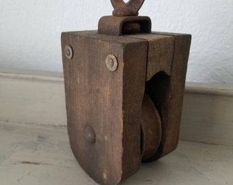 Wood Pulley Barn Pulley Antique Lighting Farmhouse Decor