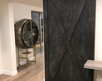 Custom Full X Sliding Barn Door
