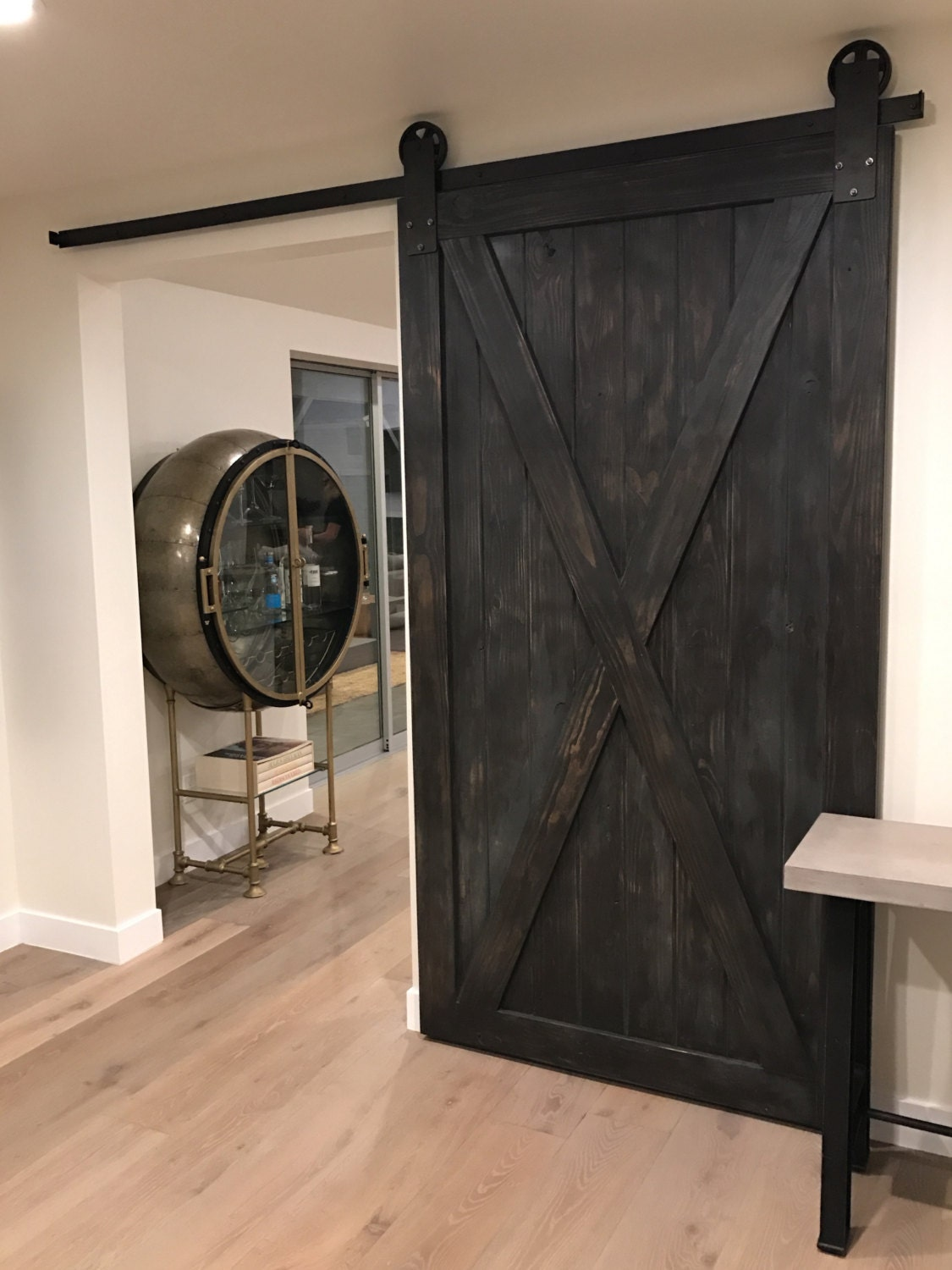 Custom full x sliding barn door for Custom sliding doors