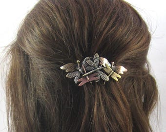 DRAGONFLY FRENCH BARRETTE 70mm- Hair Accessory- Genuine French Clip-