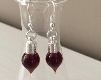 Blood Drop Earrings
