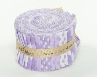 "Riley Blake Basic Variety Purple 2.5"" Rolie Polie"