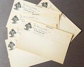 Antique Memorandum Paper Pages,  1900's, Paper Ephemera, Scrapbooking, Collage, Mixed Media, Junk Journal Supply
