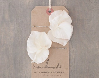 White Hydrangea Hair Flowers Wedding Hair Accessories