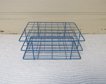 Blue Test Tube Rack, Art Supply Storage Rack
