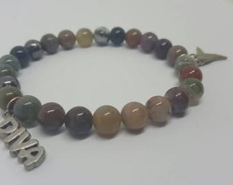 "Multi Color ""Diva"" Beaded Bracelet"