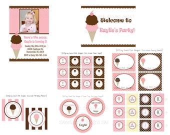 Ice Cream Shoppe- Printable Party Collection