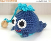 Christmas Sale Whale baby toy,Whale teething toy, Blue, Marine whale rattle,First toy for your baby,Hanging baby toy,Car seat toy,Stroller t