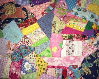 "Handcrafted Baby Quilt Crazy Quilt Wall Decor 29"" x 35"""