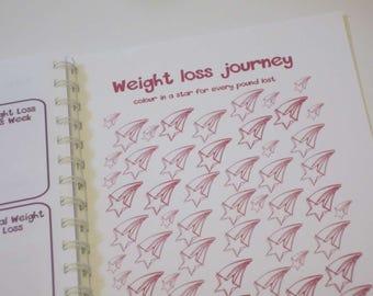 Food Diary / Unicorn Theme / Slimming World / Personalised Papercut Notebook
