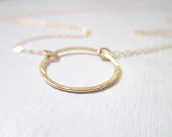 Circle necklace, gold necklace, minimalist, simple necklace, everyday necklace, delicate gold necklace, gold filled chain