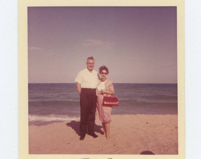 Vintage Snapshot Photo: Large Red Purse, 1963 (71541)
