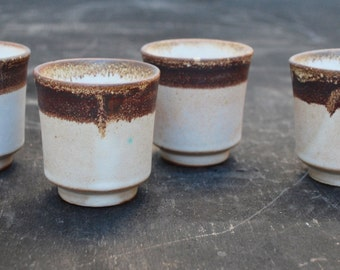 Set of Four Pacific Stoneware Teacups