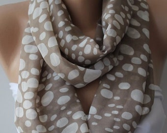 Scarf Christmas Gift Holiday Gift Polka Dots Scarf Gift for Her Wife Gift Grandma Gift Best Friend Gift