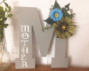 Mothers Day Gift - Gifts For Her, Mothers Day Birthstone, Decorative Letters, Mom Gift, New Mom, Wall Letters, Monogram Letters
