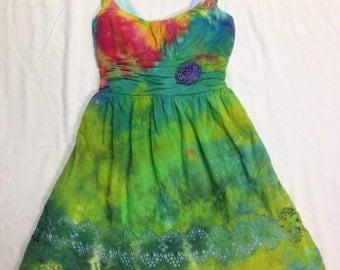 Funky Tie Dye Ladies Dress size 1 W231